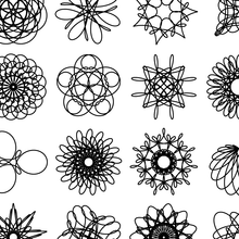 Load image into Gallery viewer, Spirograph Grid — (A4)
