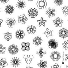 Load image into Gallery viewer, Spirograph Phyllotaxis Grid — (A3)