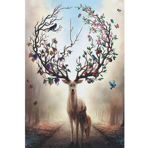 Color Deer Landscape Puzzle