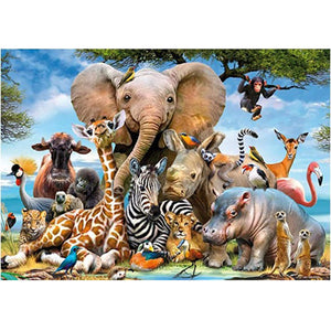Animal World Landscape Puzzle