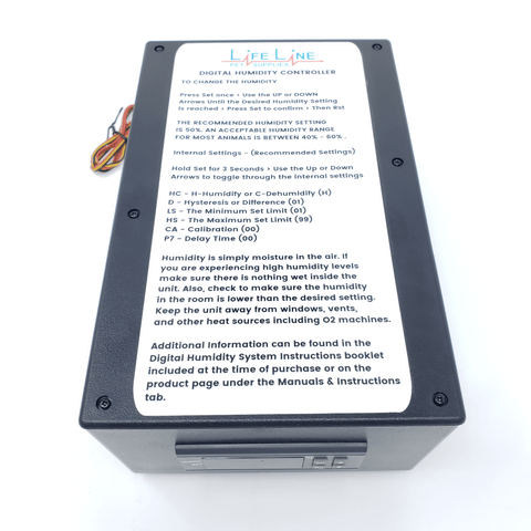 Digital Humidity Controller box for the Lifeline Pet Supplies Puppy Kitten Pett Incubator Icu