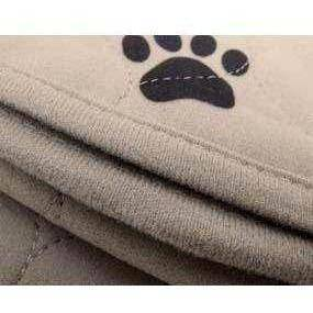 LIGHT BROWN 3-PLY PAW PRINT PAD-MAT 16.5X19.5 - Lifeline Pet Supplies