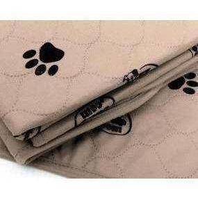 LIGHT BROWN 3-PLY PAW PRINT PAD-MAT 24X36 - Lifeline Pet Supplies