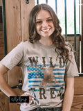 "ONE LEFT ""Wild and Free"" Western Tee"