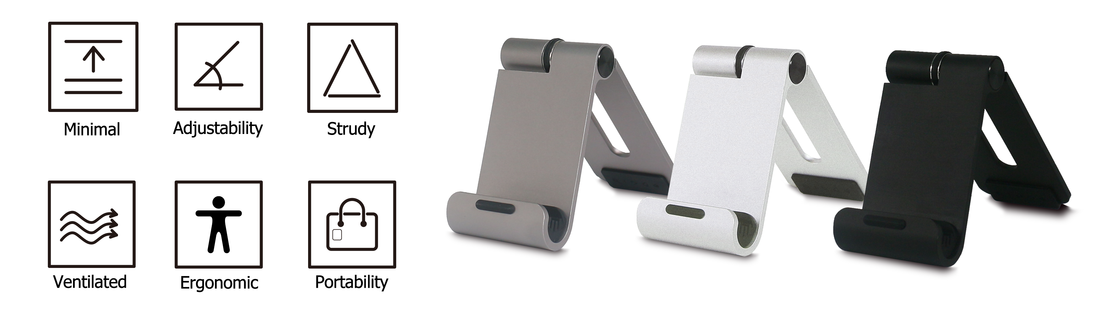 portable adjustable stand for phone