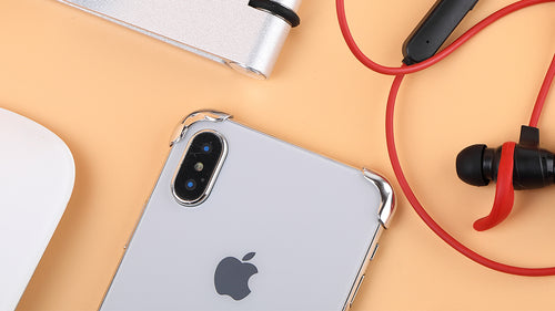 silver phone corners for iphone x