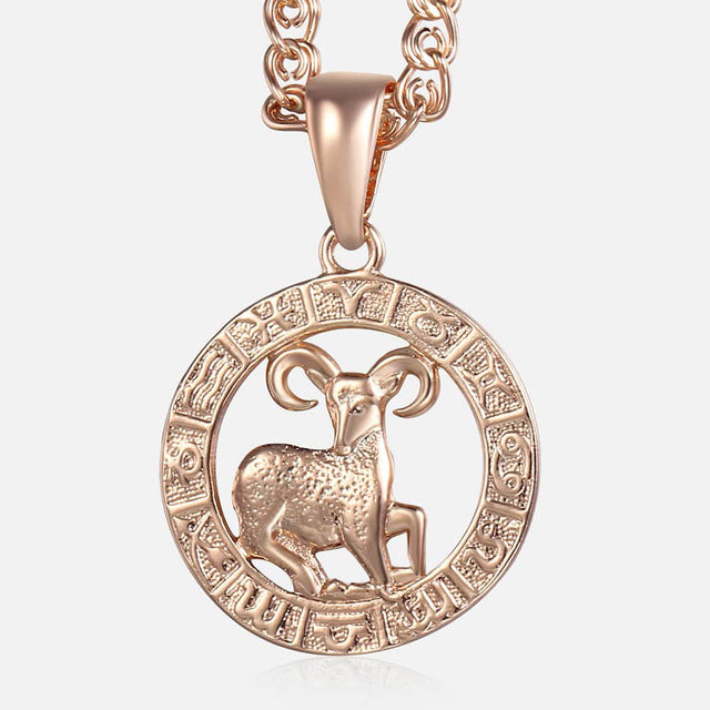 Aries Necklace - 18K Rose Gold