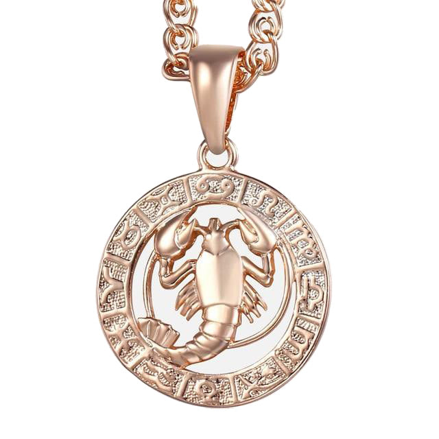 Cancer Necklace - 18K Rose Gold