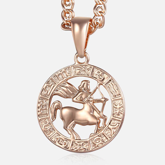 Sagittarius Necklace - 18K Rose Gold