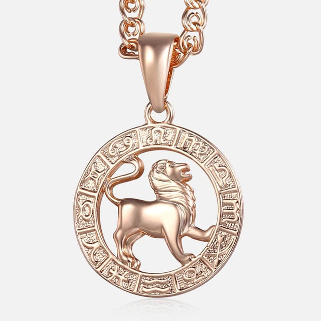 Leo Necklace - 18K Rose Gold