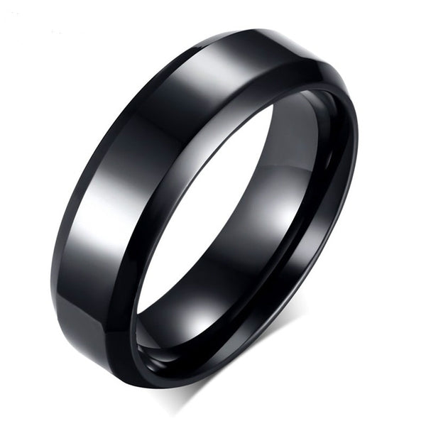 Sleek Stygian Ring