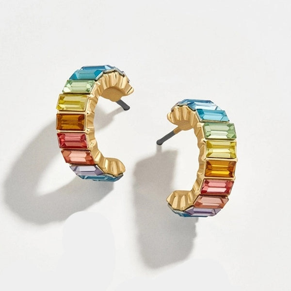 Rainbow Earrings with Gemstones