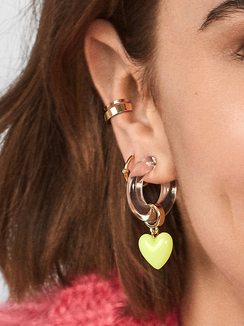 Neon Love Earrings