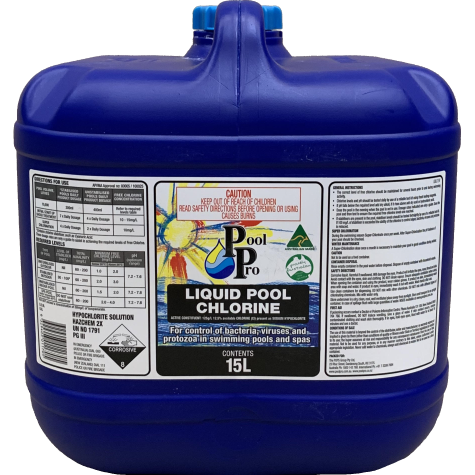 Chlorine - Liquid 15L (Includes $13 drum deposit, refundable in-store)