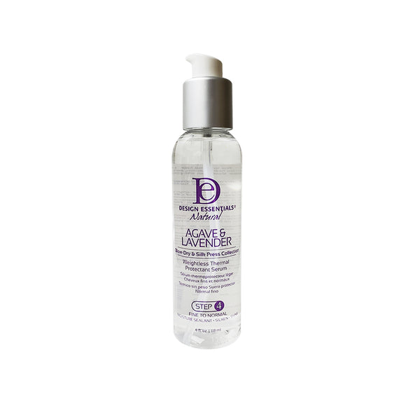 Design Essentials Agave & Lavender Weightless Thermal Protectant Serum 4oz