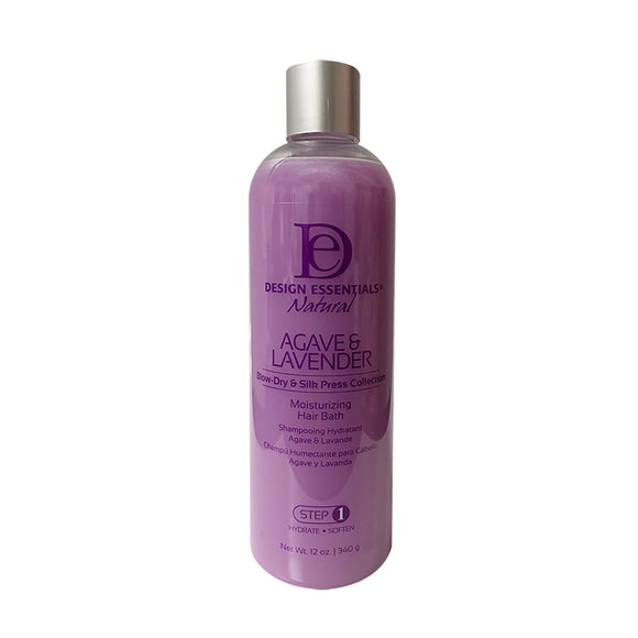 DESIGN ESSENTIALS AGAVE & LAVENDER MOISTURIZING HAIR BATH 12OZ