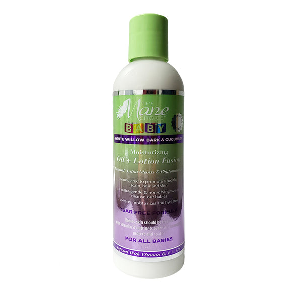 The Mane Choice Baby White Willow Bark & Cucumber Moisturizing Oil + Lotion Fusion 8oz