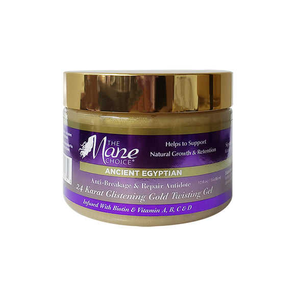 The Mane Choice Ancient Egyptian 24 Karat Gold Twisting Gel 12oz