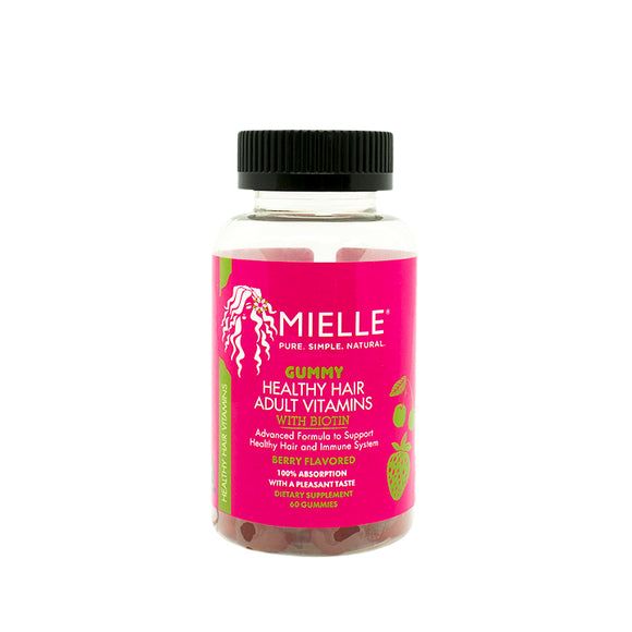 Mielle Gummy Healthy Hair Adult Vitamins 1 Month Supply