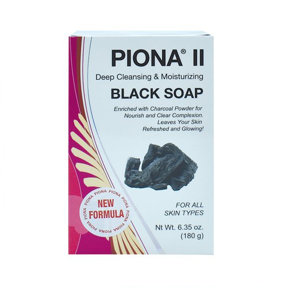 Piona II Deep Cleansing & Moisturizing Black Soap 6.35oz
