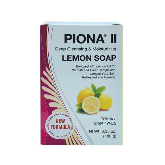 Piona II Deep Cleansing & Moisturizing Lemon Soap 6.35oz