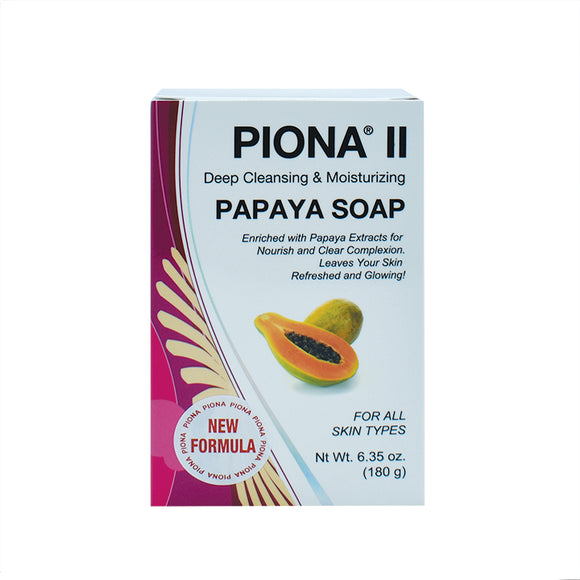 Piona II Deep Cleansing & Moisturizing Papaya Soap 6.35oz