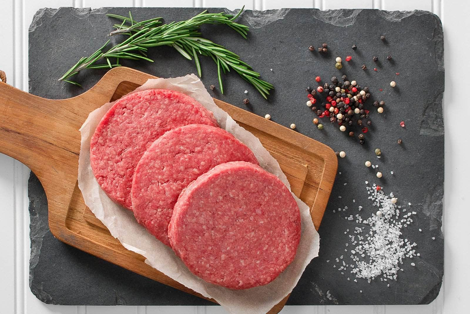 Grassfed Beef Patties 1/3 lb - 1 lb package - Local Food to Your Doorstep