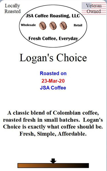Logan's Choice Coffee - 1 lb Ground beans - Local Food to Your Doorstep