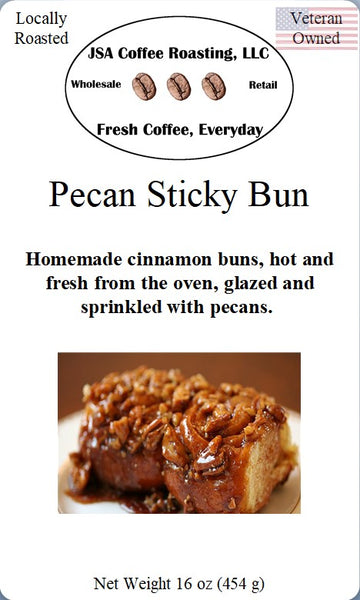 Pecan Sticky Buns Flavored Coffee - 1 lb ground beans - Local Food to Your Doorstep