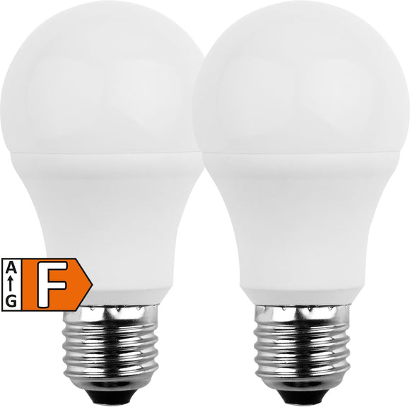 LED-E27 8W=60W | 810lm | warmweiß | 2er Pack | Blulaxa