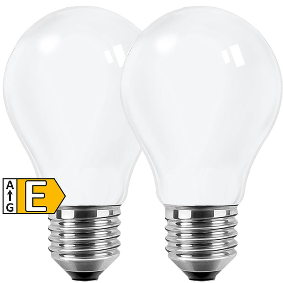 LED-E27 7W=60W | 806lm | Filament Opal | warmweiß | 2er Pack | Blulaxa