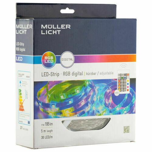 LED-Stripe DIGITAL RGB 5m-Set 17W / 195lm