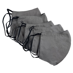 Face Mask-5 Pack Grey