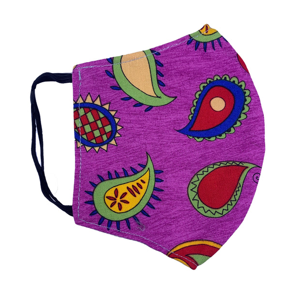 Face Mask-Colorful Paisley 1