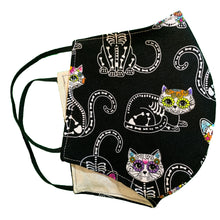 Load image into Gallery viewer, Face Mask-Kitty Sugar Skull