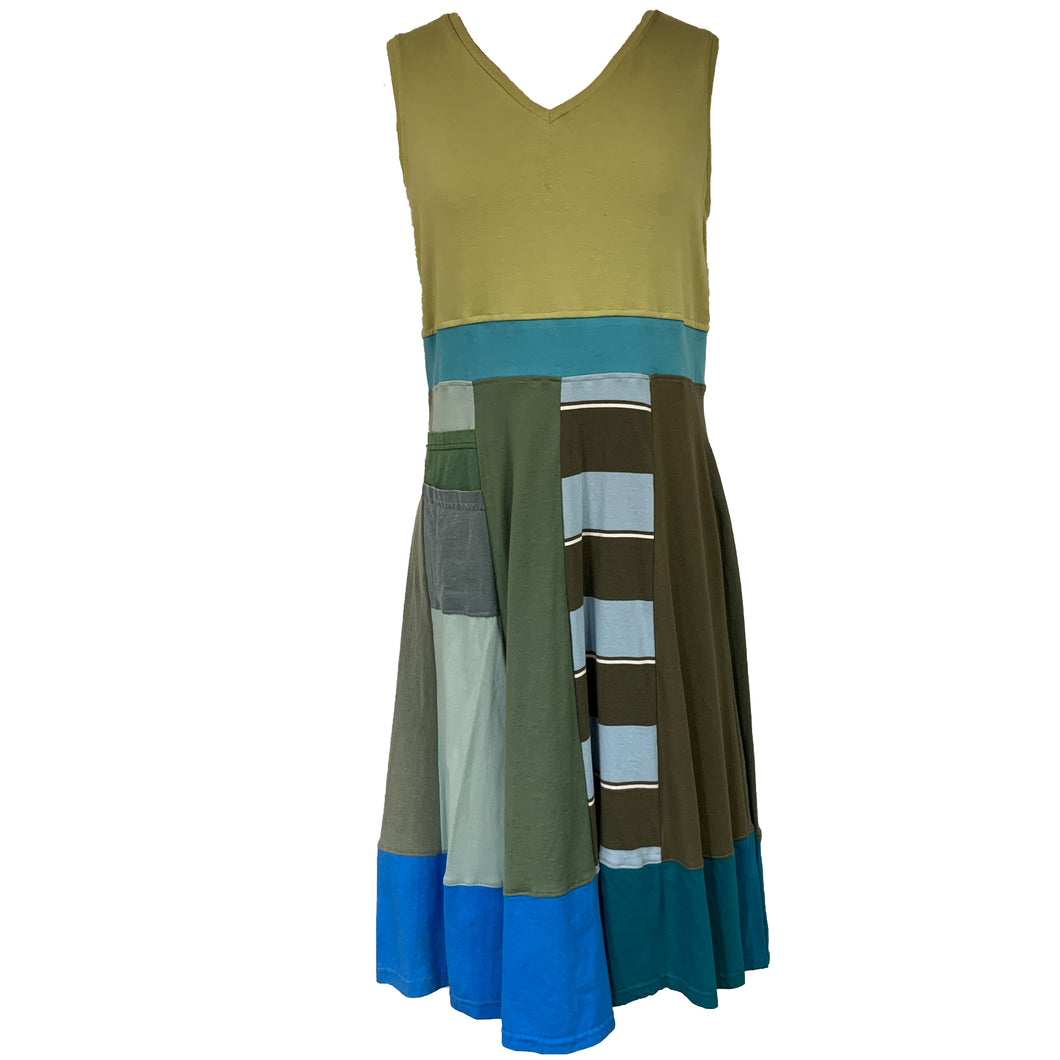 Traditional Tank Dress-Olives and Blues