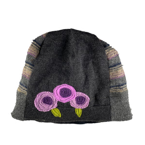 Wool Hat-Blooming Rose