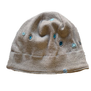 Wool Hat-Blue Dots