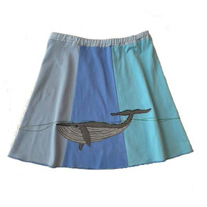 Kids Skirt-Blue Whale