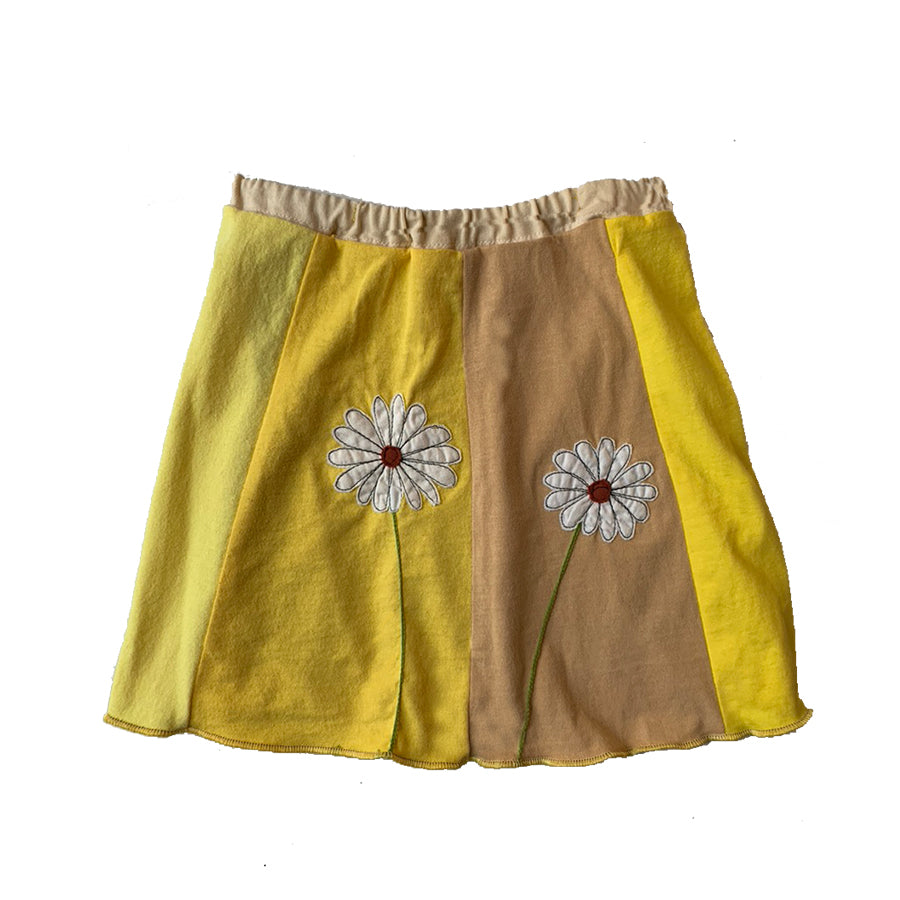 Kids Skirt-White Daisy