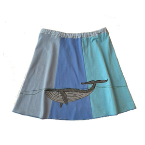 Mini Skirt-Blue Whale