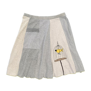 Classic Appliqué Skirt-Canary