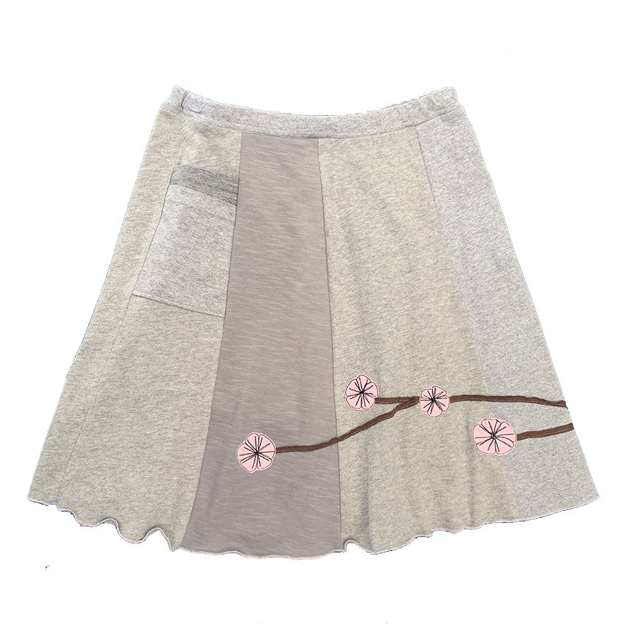 Classic Appliqué Skirt-Cherry Blossom