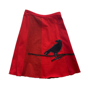 Classic Appliqué Skirt-Crow