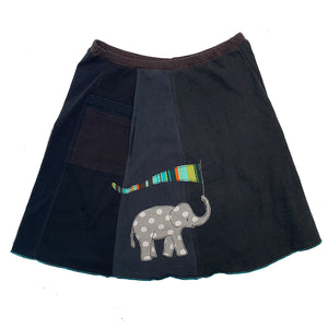 Classic Appliqué Skirt-Elephant