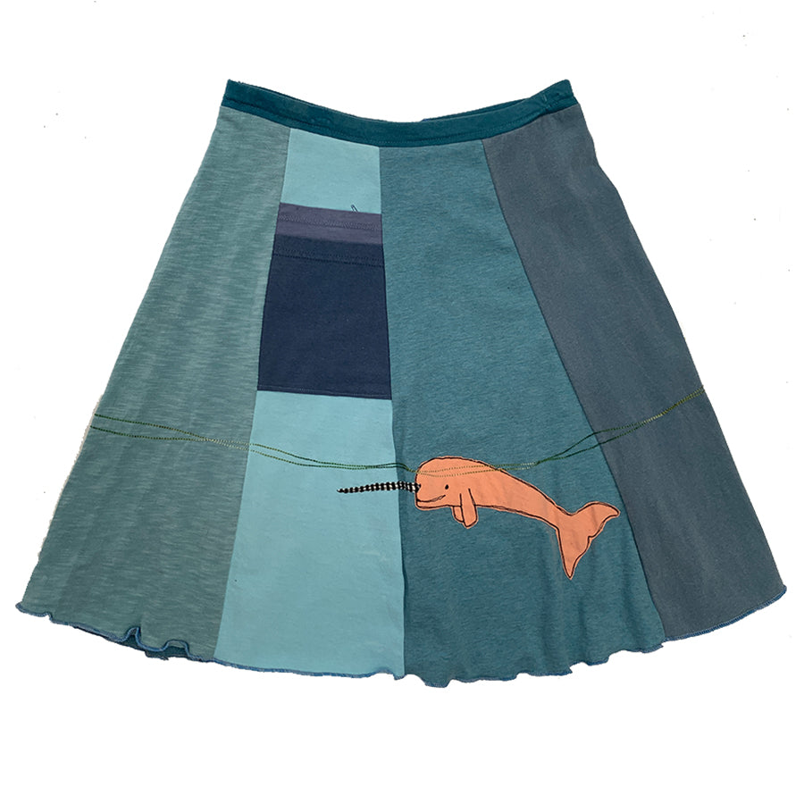 Classic Appliqué Skirt-Narwhal