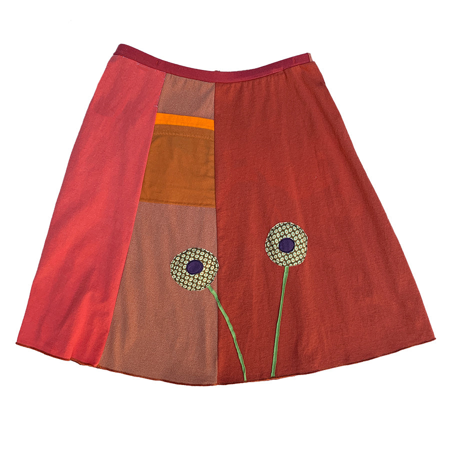 Classic Appliqué Skirt-Pattern Poppy