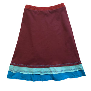 Three Layer Skirt-Maroon