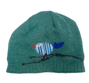Wool Hat-Cute Bird