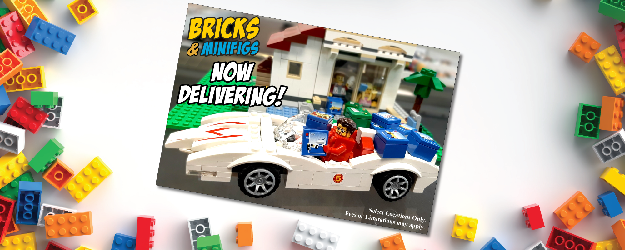 Bricks and Minifigs now delivering!